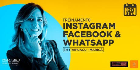 Treinamento Instagram, Facebook e WhatsApp - Maricá ingressos