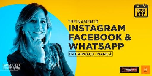 Treinamento Instagram, Facebook e WhatsApp - Maricá