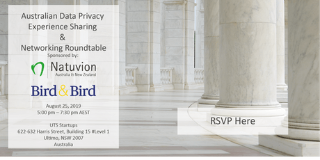Australian Data Privacy Experience Sharing and Networking Roundtable tickets
