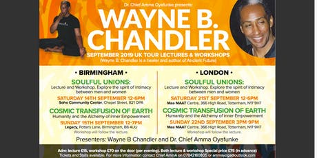 Wayne B. Chandler Tour Soulful Unions Birmingham Saturday 14th September tickets