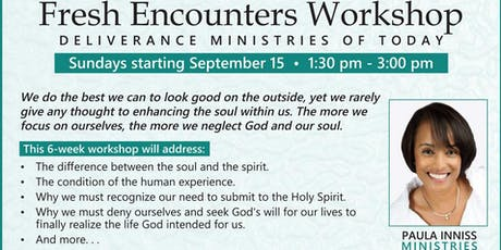 Paula Inniss Ministries: Fresh Encounters Workshop tickets