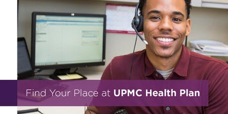 UPMC Health Plan Claims and Customer Service Career Fair tickets