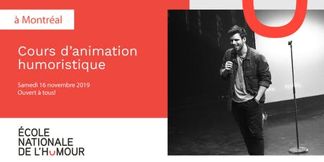 Cours d'animation humoristique tickets