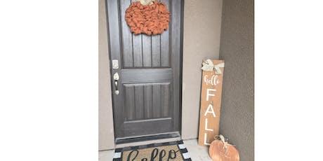Hello Fall Welcome Door Sign tickets