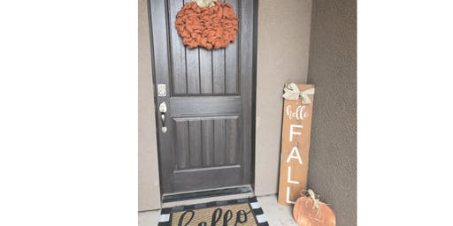 Hello Fall Welcome Door Sign