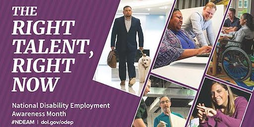 National Disability Employment Awareness Month 2019 Celebration