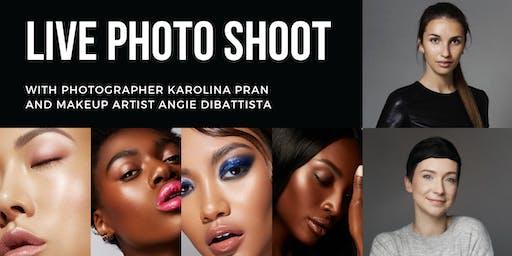 Live Beauty Focused Photo Shoot with Karolina Pran & Angie Di Battista