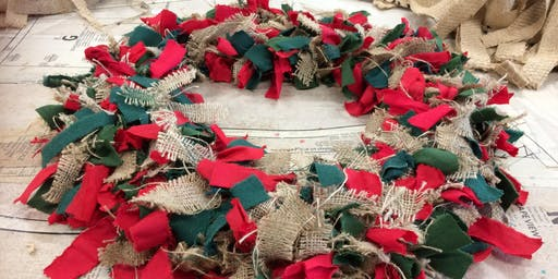 Learn to Make Fabric Christmas Wreath