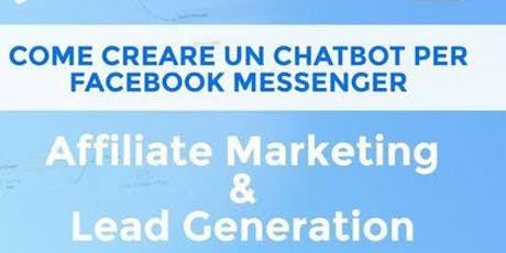 Come creare un chatbot su Facebook  per Affiliation Marketing biglietti