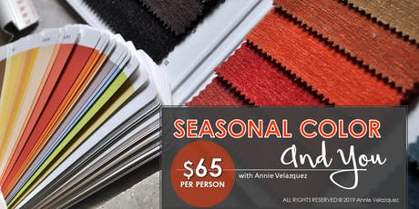 Seasonal Color and You | COLOR WORKSHOP - Evening tickets