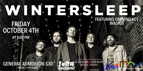 Wintersleep - Alex & Bobbie Jarlette Memorial Canadiana Music Series tickets