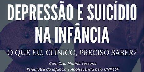 DEPRESSÃO E SUICÍDIO NA INFÂNCIA ingressos