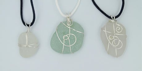 Sea glass pendant workshop with lunch tickets