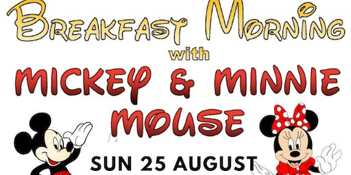Kidspace Breakfast with Mickey and Minnie Mouse