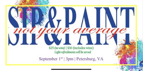 Not Your Average Sip & Paint tickets