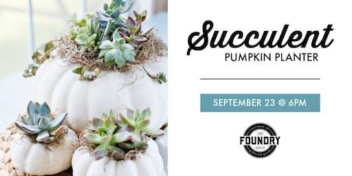 The Foundry - Succulent Pumpkin Planter