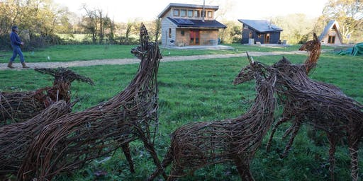 Willow Weaving Workshop with Wyldwood Willow - Stags head sculpture