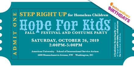 Fifth Annual HOPE FOR KIDS Fall Festival and Costume Party Fundraiser