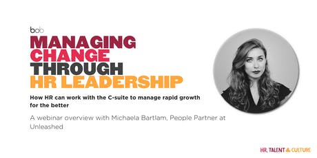 Managing Change through People Leadership (Webinar) tickets