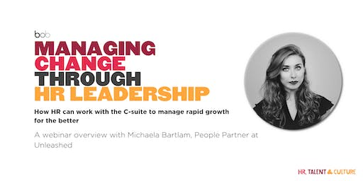 Managing Change through People Leadership (Webinar)