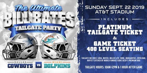 VIP Sports Getaway Presents Dallas Cowboys TICKET&TAILGATE Package-DOLPHINS