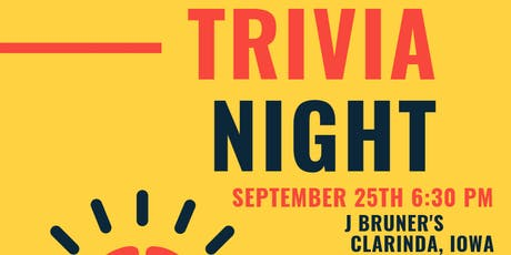 Trivia Night Sept. 2019 tickets