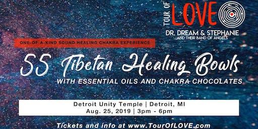 55 Tibetan Healing Bowls,Essential Oil & Chocolate Experience, Sound Healing, Detroit, MI