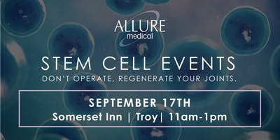 Stem Cell Events: Don't Operate, Regenerate Your Joints