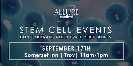 Stem Cell Events: Don't Operate, Regenerate Your Joints! tickets