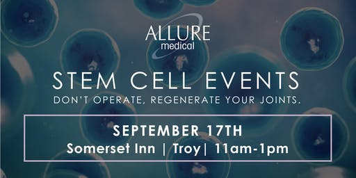 Stem Cell Events: Don't Operate, Regenerate Your Joints!