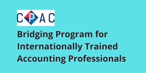 CPAC Bridging Program for Internationally Trained Accounting Professionals