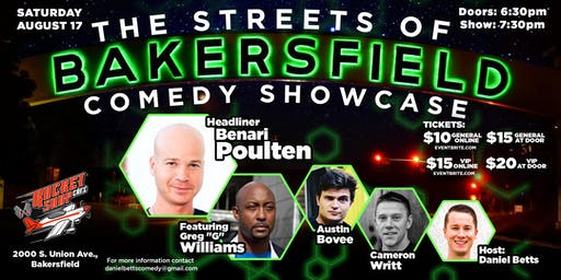 Streets of Bakersfield Comedy Showcase!