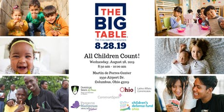 The Big Table: All Children Count! at the Martin de Porres Center tickets