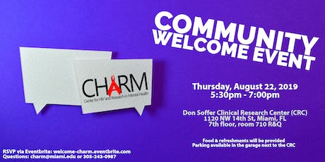CHARM COMMUNITY WELCOME EVENT tickets