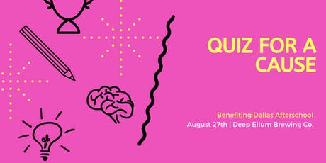 Geeks Who Drink Quiz for a Cause benefiting Dallas Afterschool  tickets