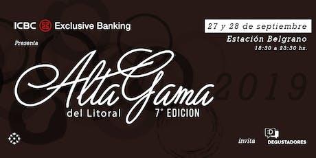 ALTA GAMA DEL LITORAL 2019 entradas