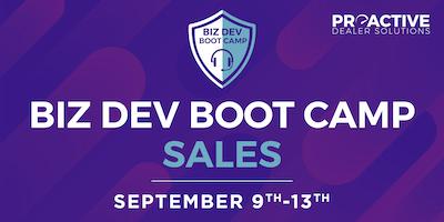 September - Biz Dev Boot Camp Sales
