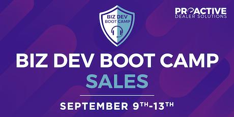 September - Biz Dev Boot Camp Sales tickets