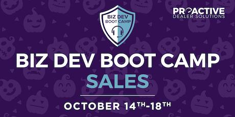 October - Biz Dev Boot Camp Sales tickets