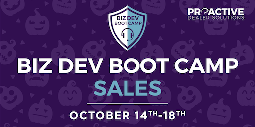 October - Biz Dev Boot Camp Sales