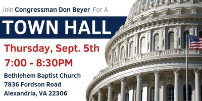 Congressman Don Beyer's Town Hall: September 5, 2019