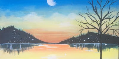 Paint & Sip Party Event - 'Moonlit Bay' at The Falcon in WHITTLESEY, Cambs