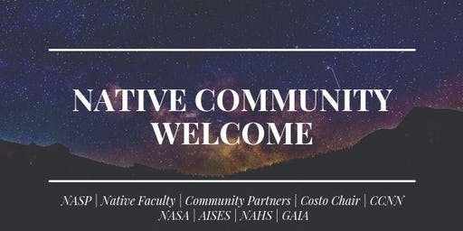 Native Community Welcome