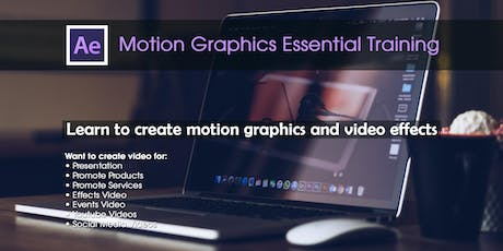 Motion Graphics Essential Training tickets