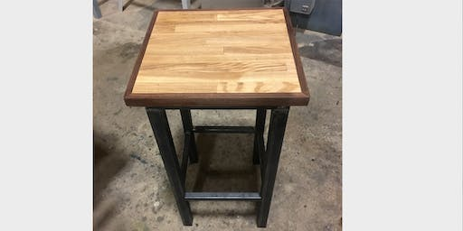 Wood & Metal Side Table (An Arc Academy & Rebuilding Exchange Collaboration)