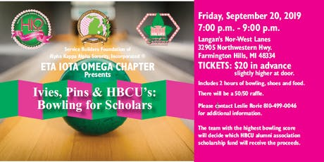Ivies, Pins & HBCU's:  Bowling for Scholars tickets