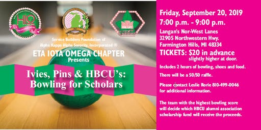 Ivies, Pins & HBCU's:  Bowling for Scholars