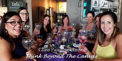 Wine Glass Painting Class at Two Twisted Italians 10/3 @ 7:00pm