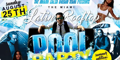 The Miami Latin Rooftop Pool Party: ALL WHITE AFFAIR