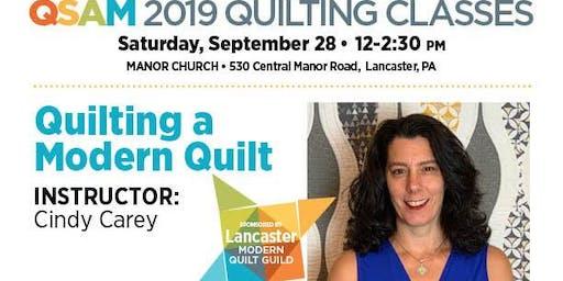 Quilting Class: Quilting A Modern Quilt